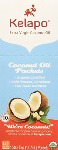 Kelapo Extra Virgin Coconut Oil, 10-Count Pouches