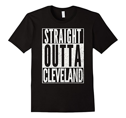 Cleveland Costumes (Mens STRAIGHT OUTTA CLEVELAND OHIO Funny Halloween Costume Shirt Medium Black)