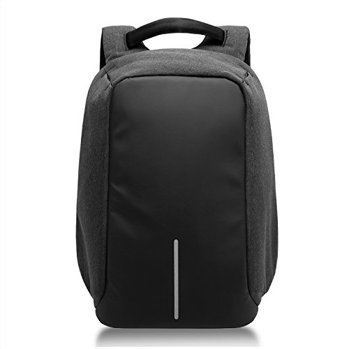 KAKA Laptop Backpack, Business Anti-Theft Water Resistant College Travel Backpack with USB Charging Port for 15.6-Inch Laptop and Notebook (black)