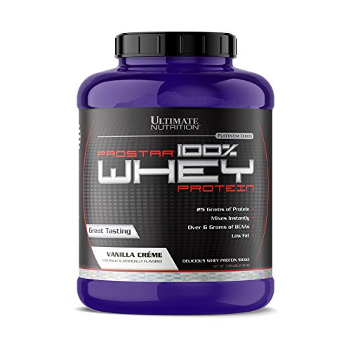 Ultimate Nutrition Prostar 100% Whey Protein Powder - Low Carb, Low Fat, Lose Weight, Build Muscle with 25g of Protein and 6g BCAAs for Optimum Muscle Recovery, Vanilla, 5.28 ()