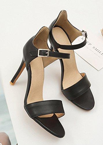 Aisun Women's Dressy Ankle Strap High Stilettos Sandals Black eYJVCSHGdf
