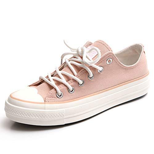 Lacci Stringate Con Scarpe Donna Skateboard Studente Pink Sportive Piatte Da Tela In Traspiranti xUwY6q8U