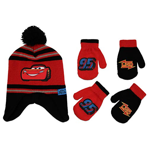 3b6a59e1186 Galleon - Disney Cars Hat And 2 Pair Mittens Or Gloves Cold Weather ...