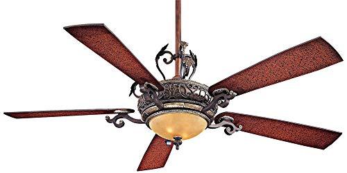 Minka-Aire F705-STW Downrod Mount, 5 Wood Finish Blades Ceiling fan with 93 watts light, Wood
