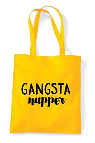 Bag Tote Gangsta Yellow Shopper Statement Napper qHnvA7t