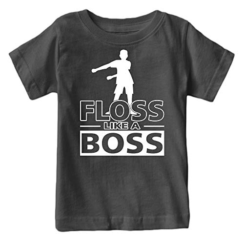 Kids Floss Like a Boss Flossin Dance Youth T Shirt (Charcoal, Youth M)