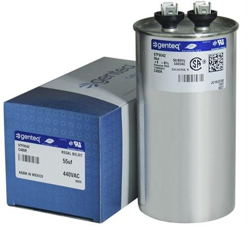 (2) Pack - GE/Genteq Z97F9042 97F9042-55 uf MFD 440 Volt VAC Genteq Replacement Round Run Capacitors