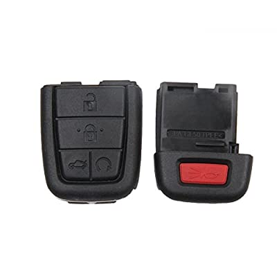 New Keyless Smart 5 Buttons Remote Car Key Shell Case Fob for 2008 2009 Pontiac G8 Replacement No Chip: Car Electronics