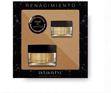 ATASHI CELLULLAR COSMETIC PACK NAVIDAD BELLEZA CONTORNO DE OJOS 15 ml y CREMA REPARADORA ANTIARRUGAS 50 ml: Amazon.es: Belleza