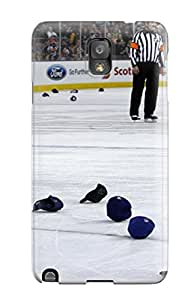 Rugged Skin Case Cover For Galaxy Note 3- Eco-friendly Packaging(edmonton Oilers (30) )