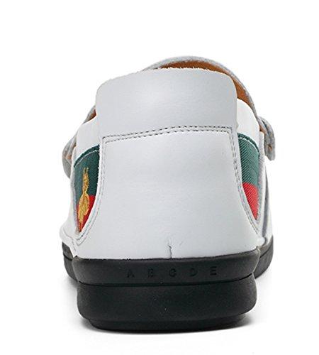 Tda Heren Slip-on Mode Penny Loafers Boot Leer Rijden Wandelschoenen Wit