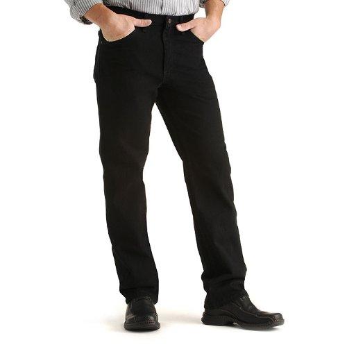 Lee Men's Regular Fit Straight Leg Jean, Double Black, 40W x