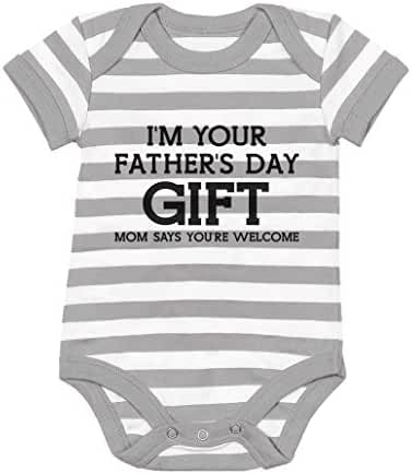 TeeStars - I'm Your Father's Day Gift Mom Says Welcome - Funny Baby Bodysuit