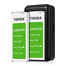 YISHDA Note Edge Battery, 2 X Li-Ion Battery for Samsung Galaxy Note Edge 3000mAh N915 N915U LTE AT&T N915A Verizon N915V Sprint N915P T-Mobile N915T With Note Edge Spare Battery Charger