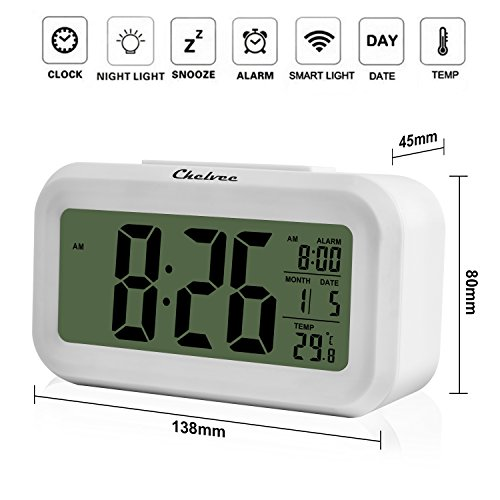 BeautyFlower-Smart-Alarm-Clock-with-Large-LCD-screen-  sc 1 st  eBay & BeautyFlower Smart Alarm Clock with Large LCD screen Low Light ... azcodes.com