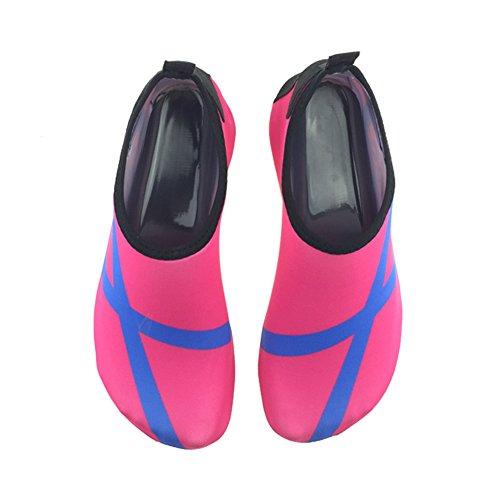SENFI Wasserschuhe athletische Aqua-Socke für Wasser-Sport-Strand-Pool-Boot C.pink