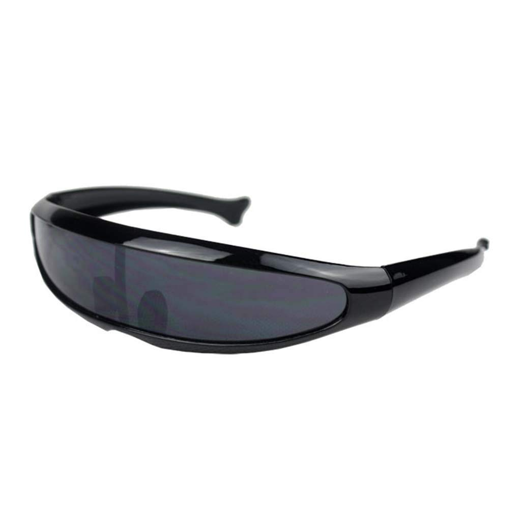 KCPer Sunglasses for Women Man Outdoor Fishtail Uni-Lens Riding Sports Cycling Glasses (C)