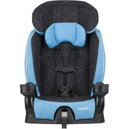 Evenflo Advanced Chase Lx Harness Booster Seat | Simple Adjustability with Upfront Harness Fitting and 2 Crotch Buckle Positions - Glacier Ice -  EvenfloProducts., M2TVXBY