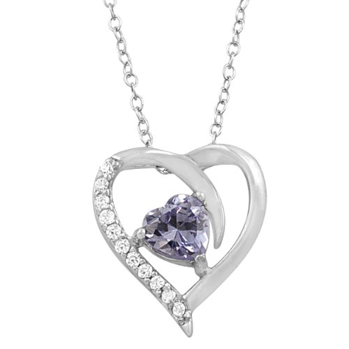 Birthstone Heart Necklace - 1