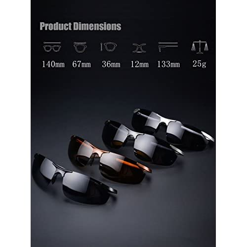 1d5b870e62 LUOMON Men s Polarized Wrap-Around Sport Sunglasses with Unbreakable Frame  LM8179 well-wreapped