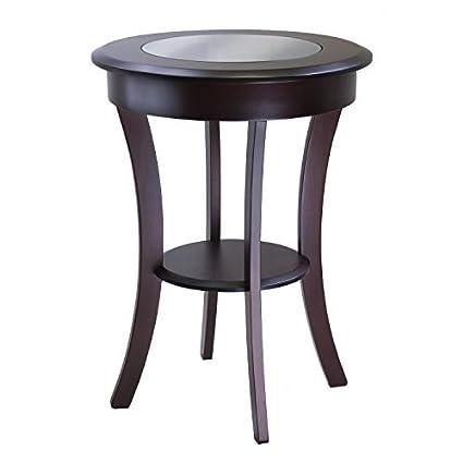Amazon.com: Cassie Mesa decorativa con tapa de cristal ...