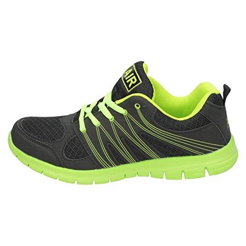 Trainers Sprint Green Airtech Black Mens Neon 645wqOS