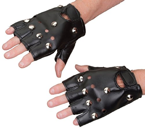 Greaser Hats (Biker Gloves with Studs -)