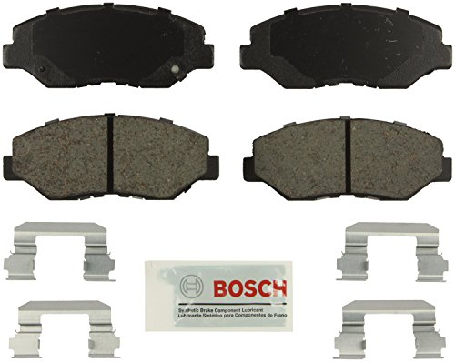 Bosch BE943H Blue Disc Brake Pad Set with Hardware For: Honda Accord, Pilot, ()