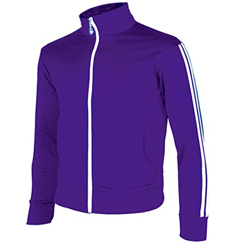 myglory77mall Men's Running Jogging Track Suit Warm Up Jacket Gym Training Wear XL US(3XL Asian Tag) Purple ()