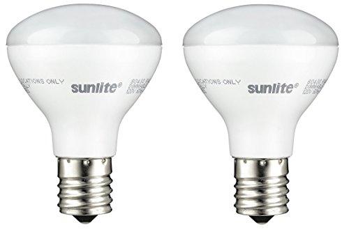 (Sunlite R14/LED/N/E17/4W/D/27K LED R14 Reflector Floodlight 4W (25W Equivalent) Light Bulbs, Intermediate (E17) Base, 2700K, Warm White (2 Pack))