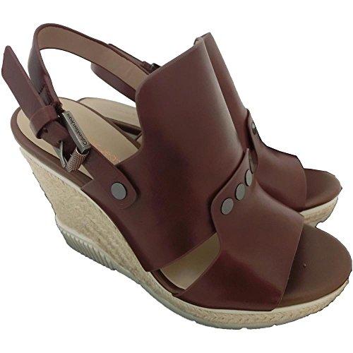 Calvin Klein - Sandalias de vestir de Piel para mujer marrón marrón