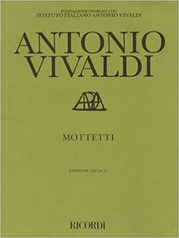 Book Mottetti (Motets): Critical Edition Score