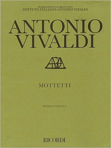 Mottetti (Motets): Critical Edition Score
