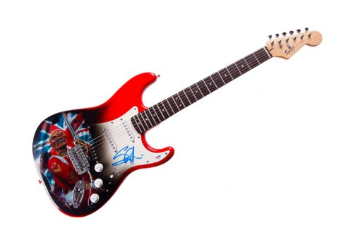 Steve Harris Iron Maiden Autographed Signed Airbrushed Guitar Preorder AFTAL