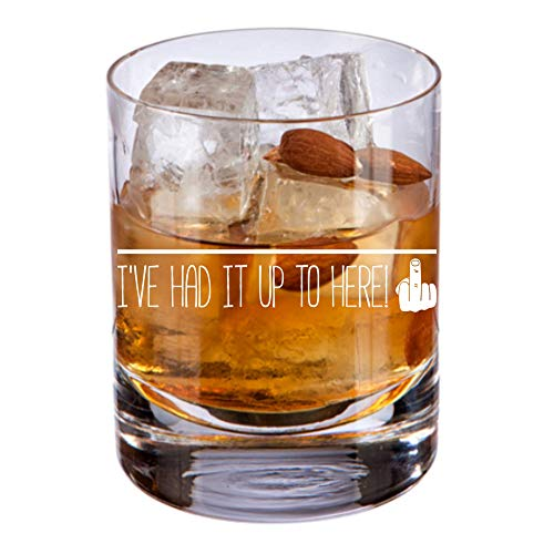 Funny Whisky Glass | Novelty Whiskey on the Rocks Glass 14oz| Unique Thoughtful Gift for Dad Husband Men for Birthdays Christmas Graduation or Any Special Occasion (Best Whiskey On The Rocks)
