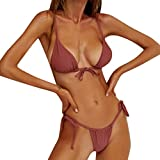 Women Two Piece Bikini Set Sexy Bandage Push-Up Padded Tie Side High Waist Swimsuits Casual Summer Beach Bathing Suits Daorokanduhp