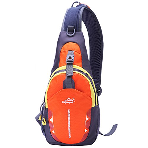 Pouch Package Orange Chest Sports Crossbody Diagonal Rucksack Magideal Running Casual Unisex Bag OwEqzwvZ