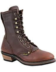 AdTec Womens 8 Packer Chestnut Work Boot