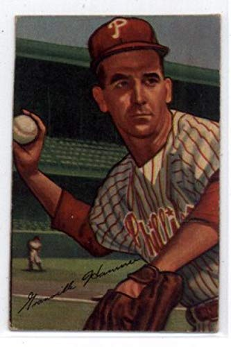 1952 Bowman #35 Granny Hamner Phillies TRIMMED - Missing Border MLB Baseball Card P Poor ()