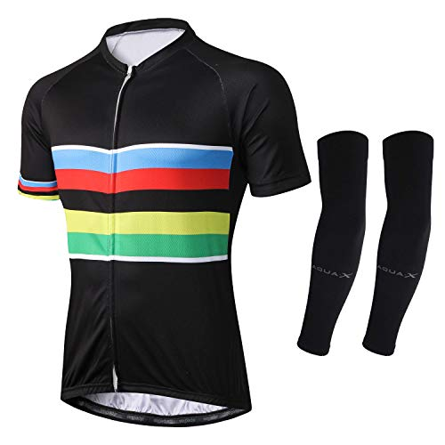 7d5d904ff Alpediaa Men s Cycling Jerseys Tops Biking Shirts Short Bike Clothing Full  Zip Bicycle Jacket with Pockets USALPE070-3-5