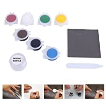 Leather and Vinyl Repair and Restoration Kit for Couch, Car Seats, Sofa, Jackets, Purse, Boots - Fast-drying, No heat adhesive