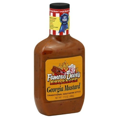 Famous Dave's BBQ Sauce Georgia Mustard, 17.5-ounce  by Famo