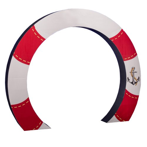 Pool Party Life Preserver Arch Standee Standup Photo Booth Prop Background Backdrop Party Decoration Decor Scene Setter Cardboard Cutout
