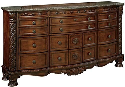 Signature Design by Ashley B553-131 North Shore Dresser, Brown