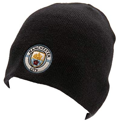 Manchester City FC Beanie Knitted Hat Navy - Official, Licensed Product - One Size Fits Most - Team Crest on Front - Great Looking Beanie