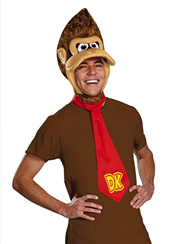 Disguise Men's Super Mario Donkey Kong Costume Kit, Brown, One Size]()