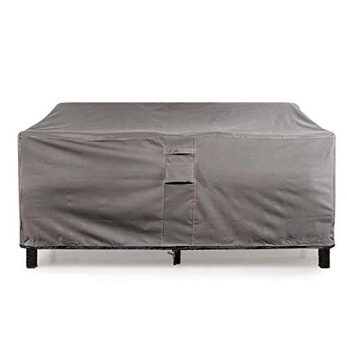 KHOMO GEAR - TITAN Series - Waterproof Heavy Duty Outdoor Lounge Loveseat Sofa Patio Cover - XL 104'' x 32.5''x 33' (Patio Furniture Protector Covers)