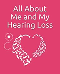 """★ Click on """"Hearing Loss Designs Co"""" to look at more notebooks and hearing loss shirt designs       ★ This Hearing loss journal has pages to fill in about child's degree hearing loss, devices they wear, amplification system, daily chec..."""