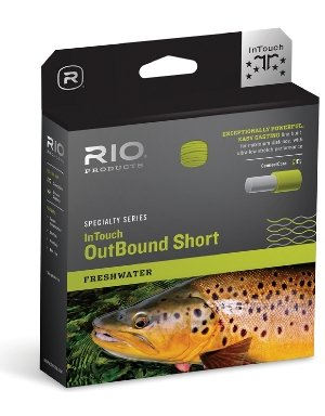 RIO Fly Fishing Fly Line InTouch Outbound Short Wf9I/S3 Fishing Line, Brown Yellow
