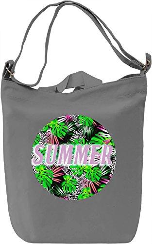 Summer Borsa Giornaliera Canvas Canvas Day Bag  100% Premium Cotton Canvas  DTG Printing 